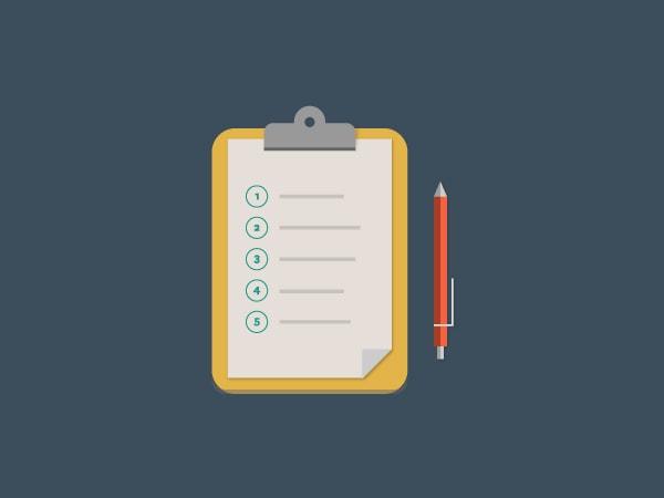 hire checklist, onboarding, clipboard