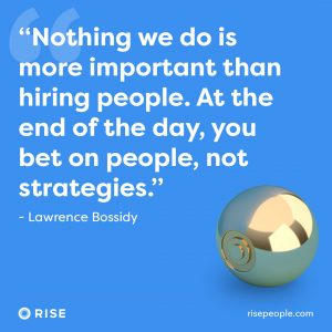 nothing we do is more important than hiring people at the end of the day you bet on people not strategies
