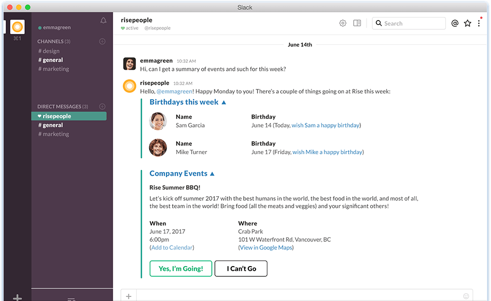 Rise-Products-HR-Slack-In-Action-Summary-of-Events
