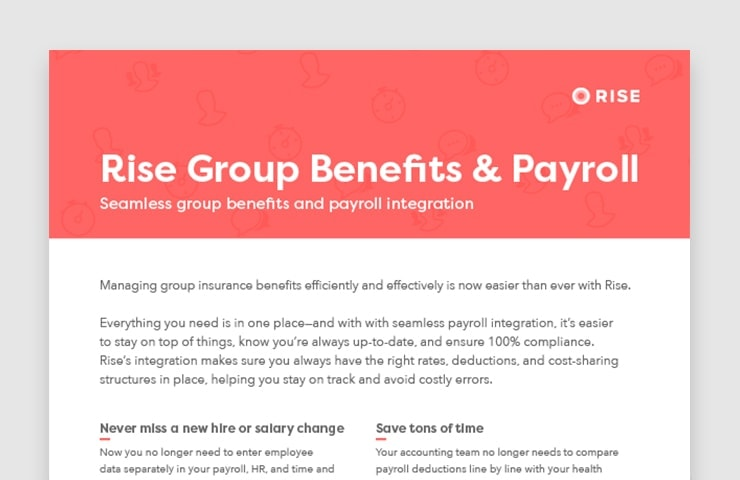 Rise Group Benefits & Payroll Integration