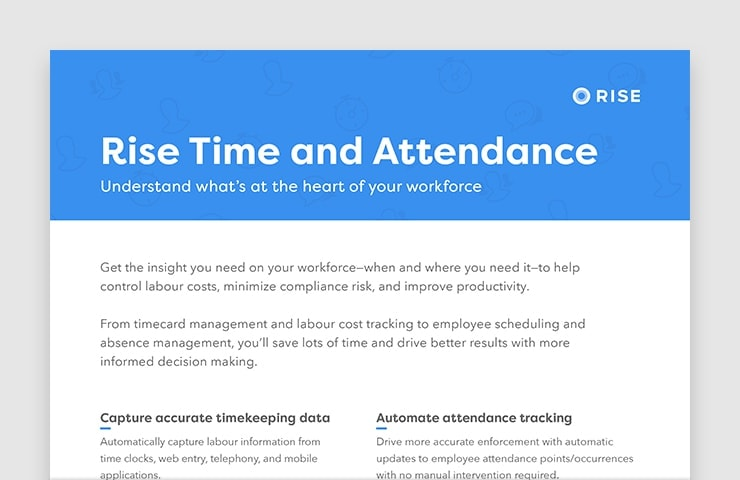 Rise Time and Attendance