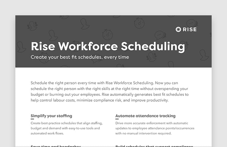Rise Workforce Scheduling