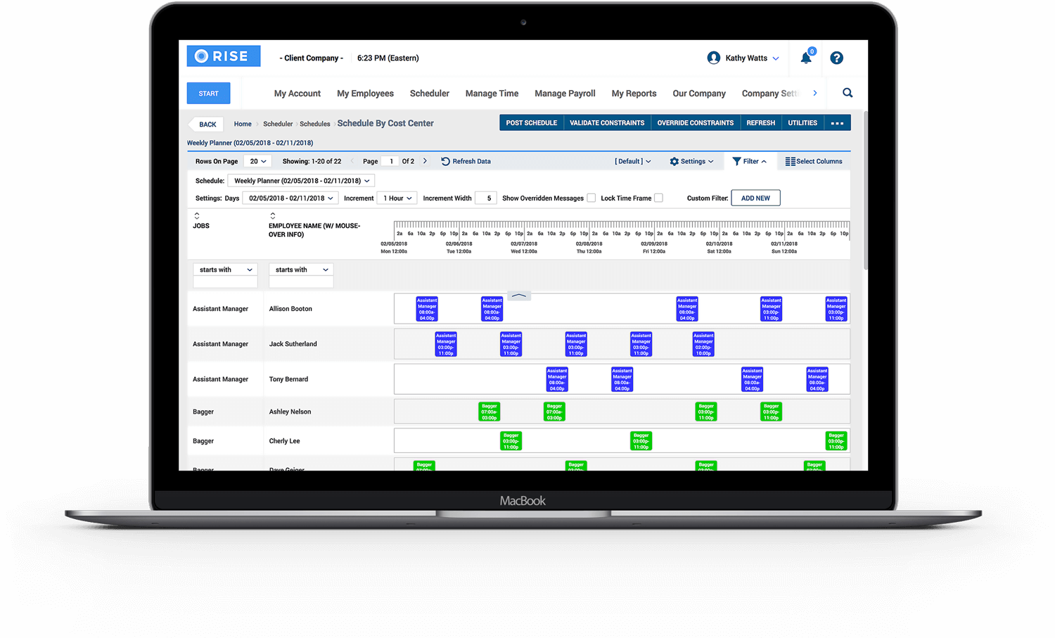 Build schedules that support compliance