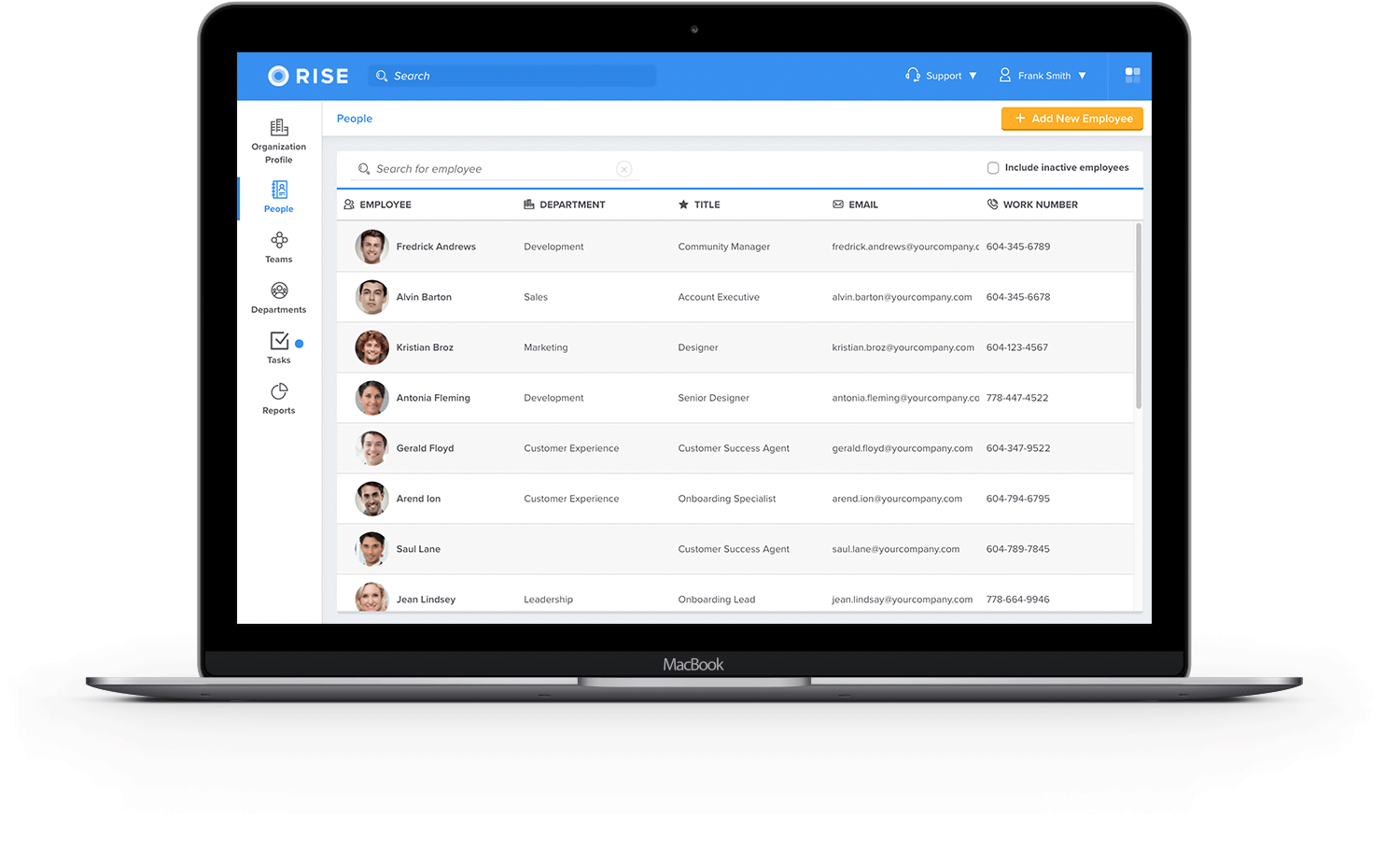 Employee data at your fingertips