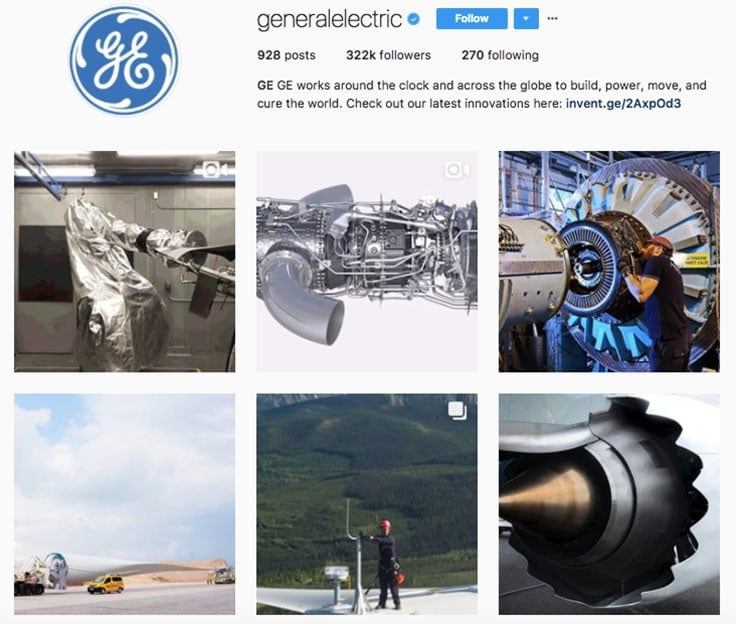 general electric instagram branding