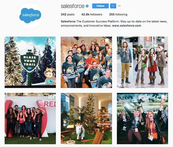 salesforce instagram branding