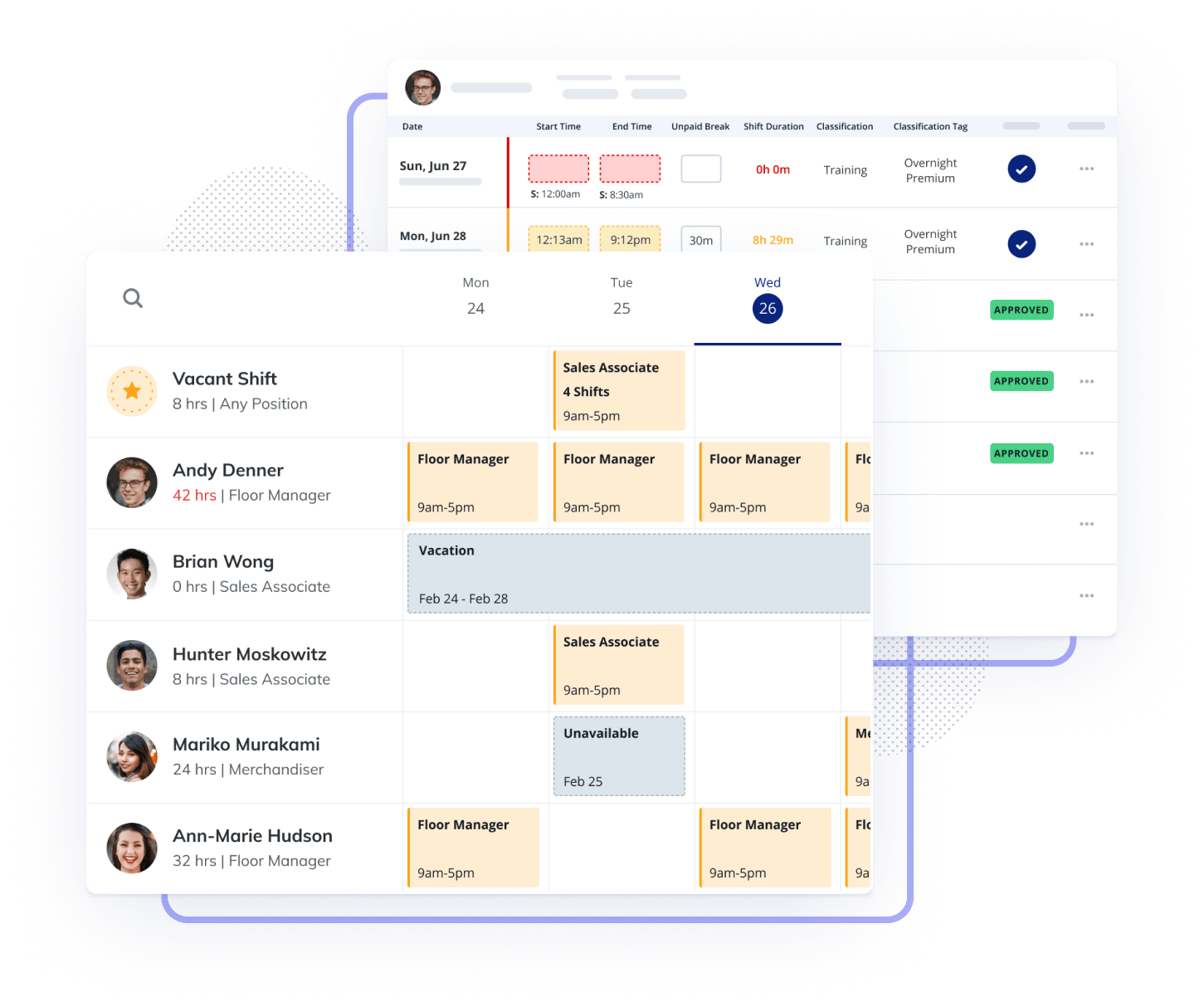 Scheduling And Time Tracking Hero