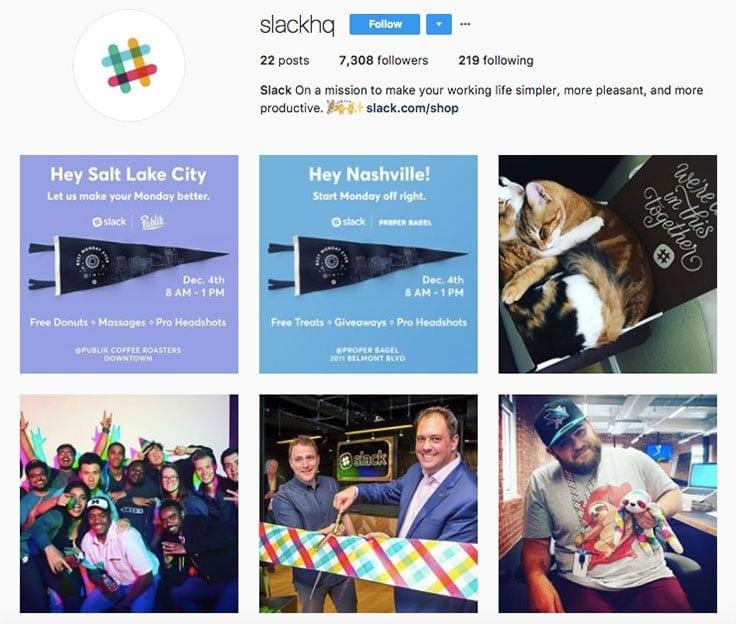 slack instagram branding