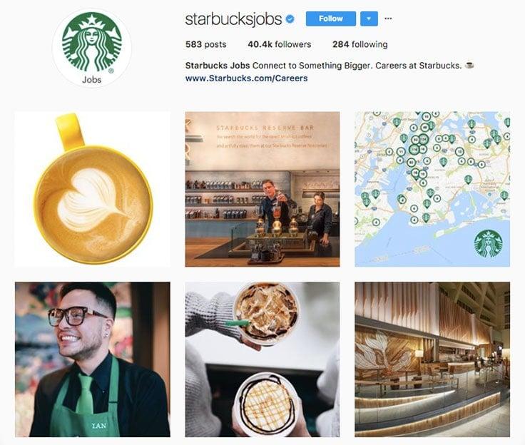starbucks-employer-branding-instagram-profile